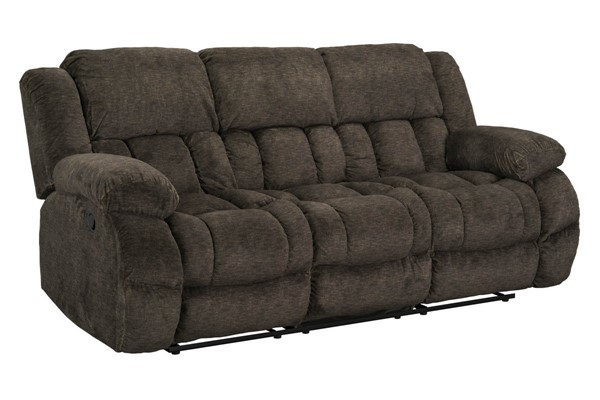 Standard Furniture Seymore Brown Manual Reclining Sofa with Drop Table STD-4240393