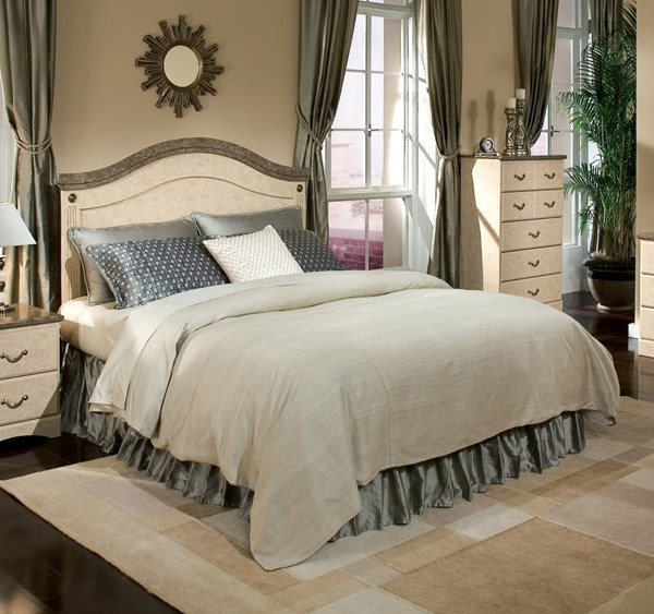 Florence Old World Wood Marble Full/Queen Panel Headboard STD-59501