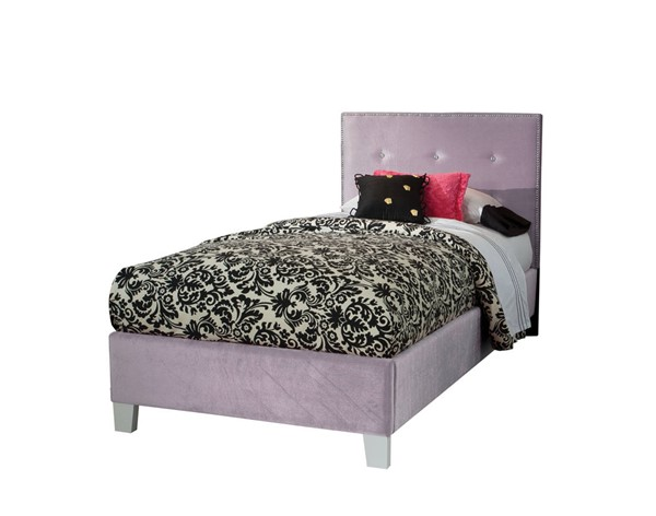 Young Parisian Lavender Fabric Solid Wood Twin Upholstered Headboard STD-65153