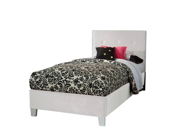 Young Parisian White Fabric Solid Wood Twin Upholstered Headboard STD-65186