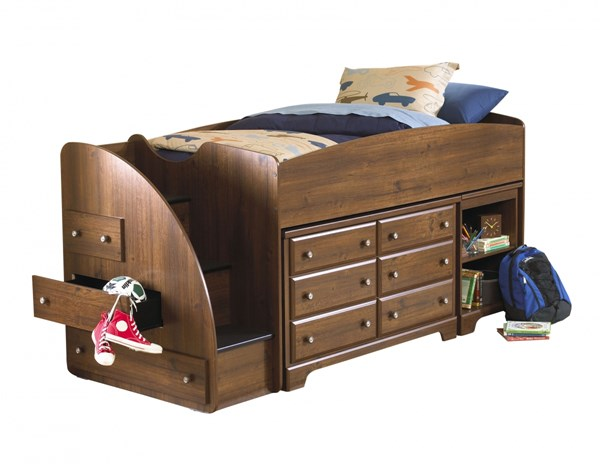 Parker Golden Brown Wood Dresser W/Storage STD-65969