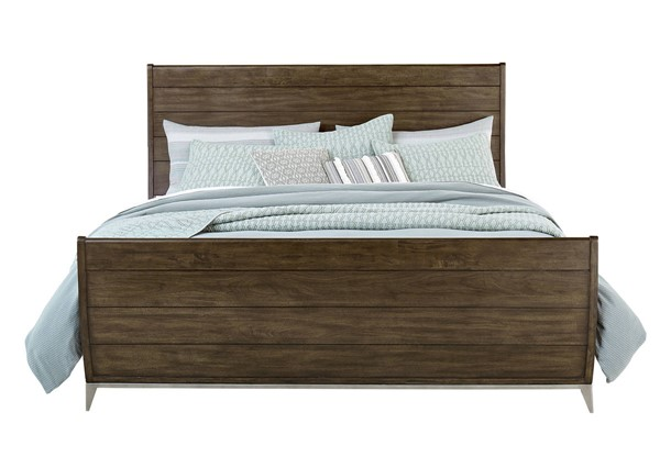Standard Furniture Milano Dry Walnut Sleigh Beds STD-8007-S-BED-VAR