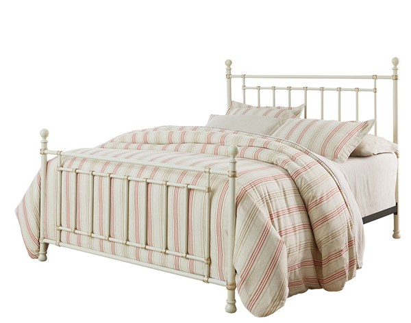 Bennington White Metal King Bed STD-81881-BED