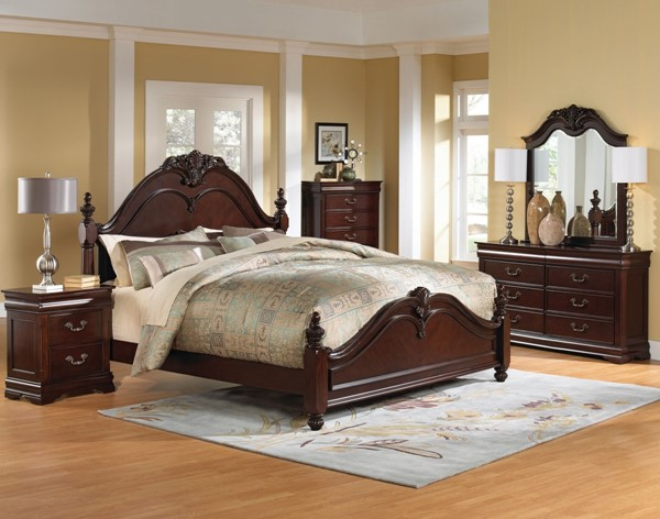 Westchester Traditional Cherry Wood Master Bedroom Set STD-82650