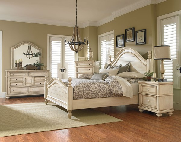 Chateau Traditional Bisque Wood 2pc Bedroom Set W/Queen Bed STD-82851-BR-S1