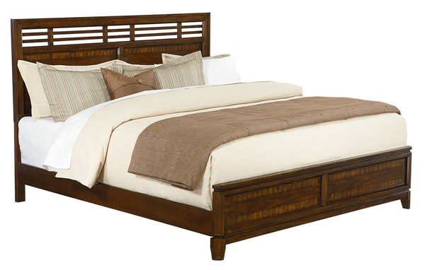 Avion Transitional Brown Wood King Panel Bed STD-86461-KB