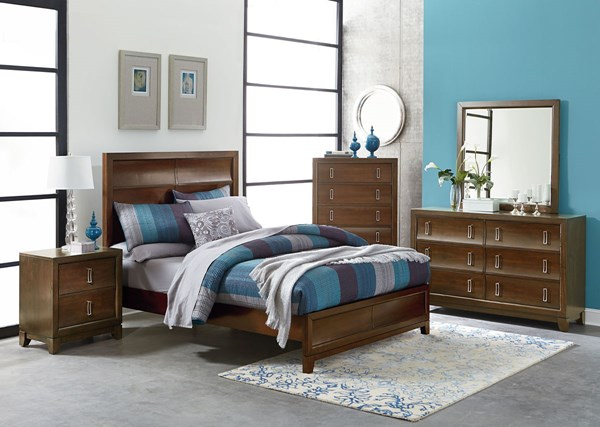 Amanoi Transitional Wood 5pc Bedroom Set w/King Bed STD-8680-BR-S2