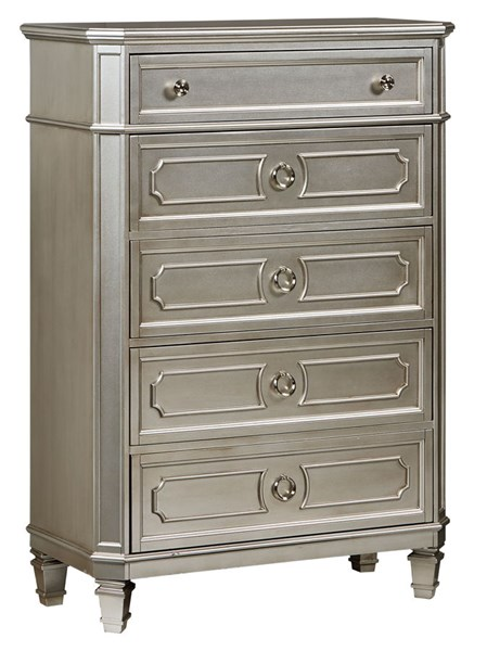 Windsor Traditional Silver Grey Wood Drawer Chest STD-87305