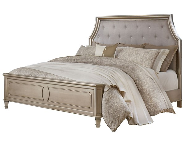 Standard Furniture Windsor Silver Grey Queen Panel Bed STD-8730-QBED