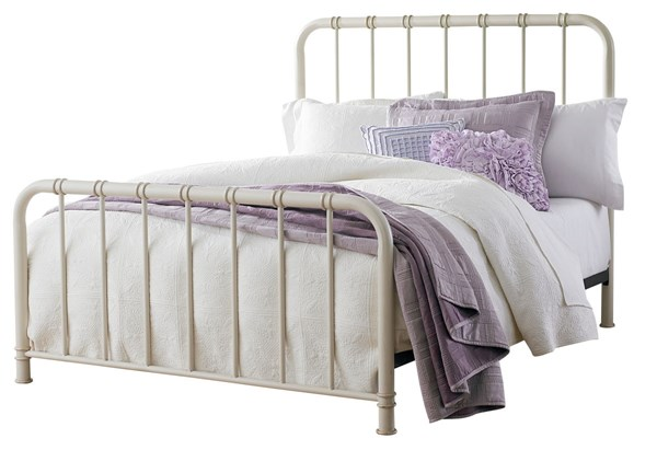 Tristen Transitional White Metal Twin Bed Rails STD-87552