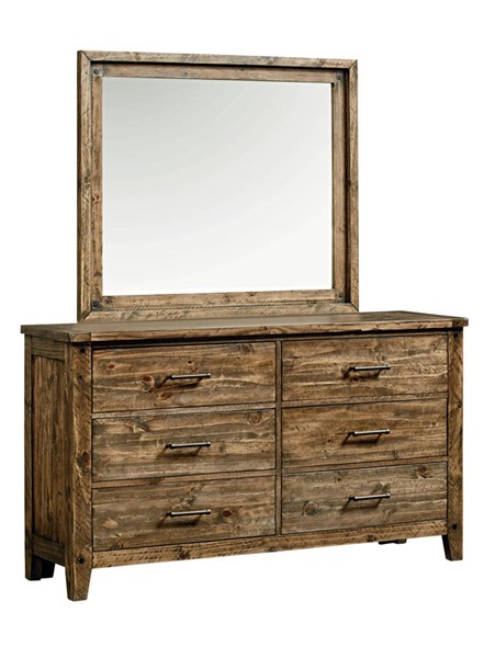 Standard Furniture Nelson Youth Brown Dresser and Mirror STD-9025-DRMR