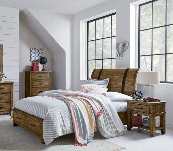 Standard Furniture Nelson Youth Brown 2pc Bedroom Set with Full Storage Bed STD-9025-KBR-S4
