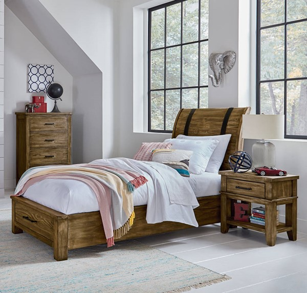 Standard Furniture Nelson Youth Brown 2pc Bedroom Set with Twin Storage Bed STD-9025-KBR-S3