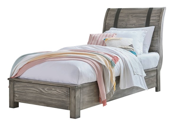 Standard Furniture Nelson Youth Grey 2pc Bedroom Set with Twin Bed STD-9025-KBR-S5