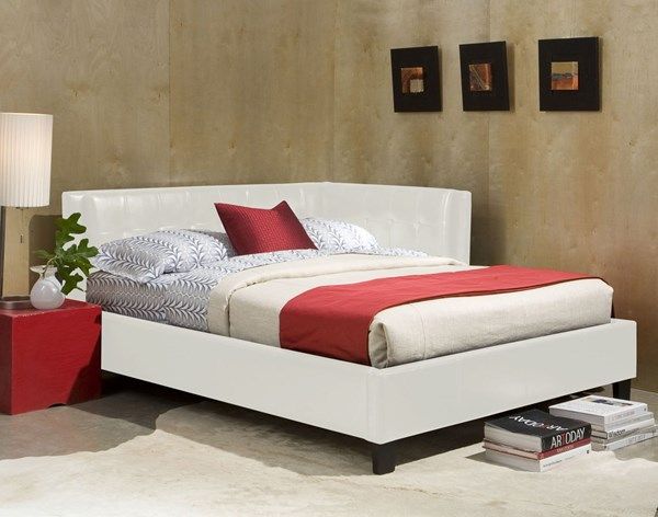 Rochester Corner Beds White Twin Upholster Bed The