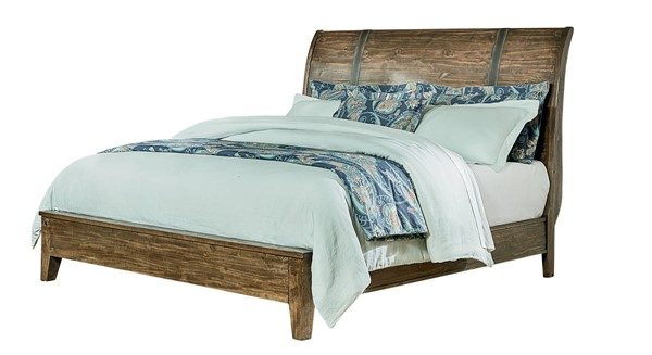 Standard Furniture Nelson Rustic Pine Queen Sleigh Bed STD-9250-QSLBED