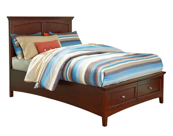 Cooperstown Transitional Cherry Hardwood Full Panel Storage Bed STD-9384-FSBED