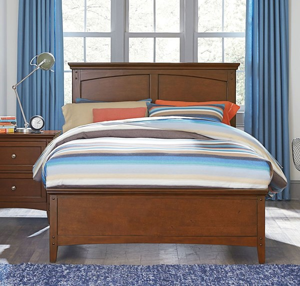 Cooperstown Transitional Cherry Hardwood Twin/Full Panel Bed Rails STD-93848