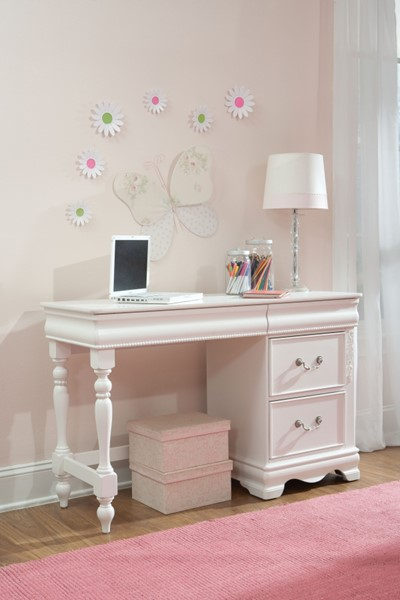 Jessica Cottage White Wood Rectangle Desk STD-94249