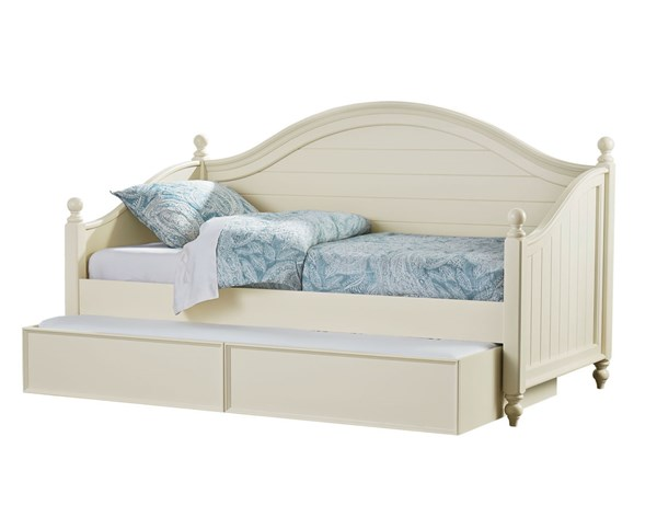 Camellia Traditional Marshmallow White Wood Twin Daybed w/Trundle STD-9523-DBED