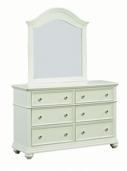 Camellia Traditional Mint Hardwood Dresser And Mirror STD-9522-DRMR