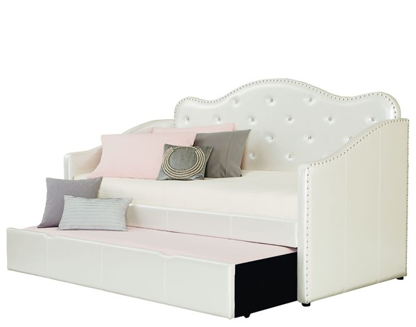 Caroline White PU Fabric Upholstered Day Bed STD-9815-DBED
