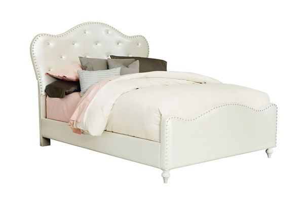 Caroline White PU Fabric Full Upholstered Headboard/Footboard STD-98161