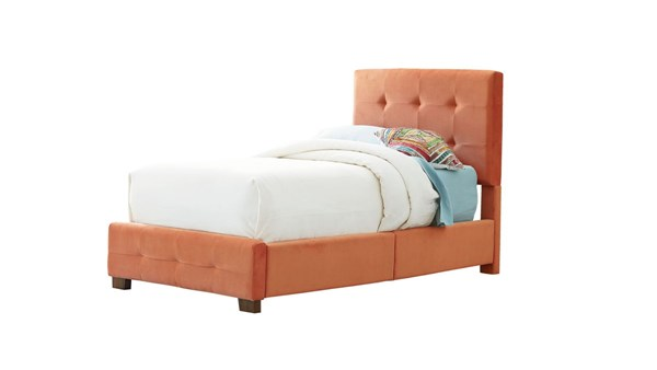 Madison Orange Wood Fabric Twin Upholstered Bed STD-99202