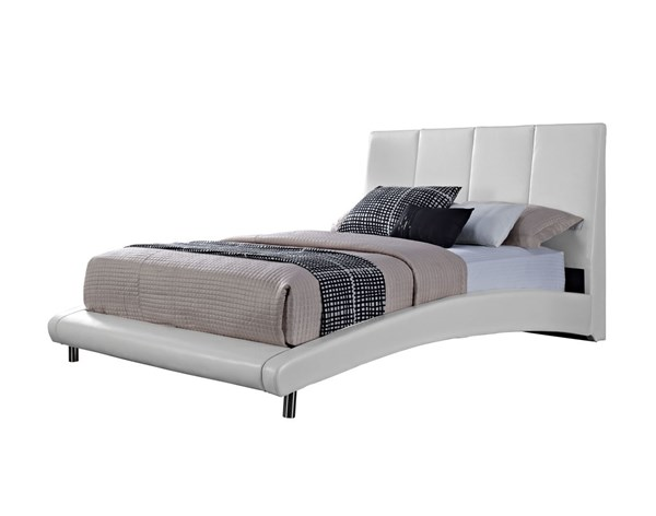 Moderno Modern White PVC Metal King Headboard STD-99517