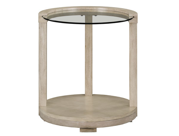 Standard Furniture Cleo White Round End Table STD-23432