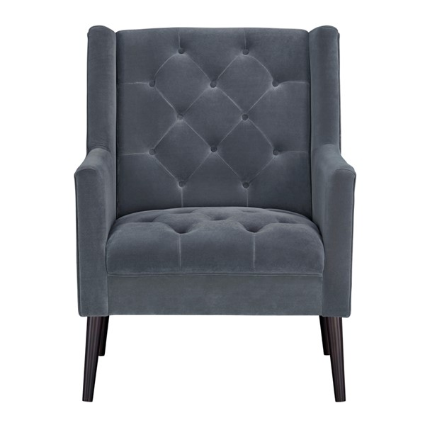 Standard Furniture Miami Grey Polyester Fabric Accent Chair STD-340083