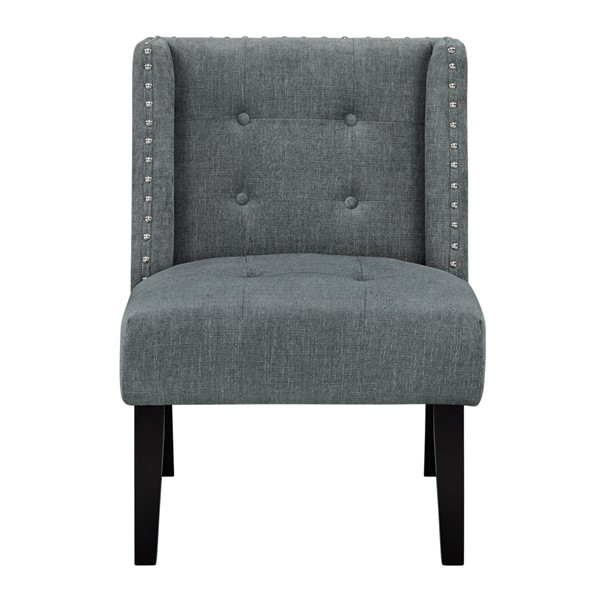 Standard Furniture Nora Grey Polyester Fabric Accent Chair STD-340181