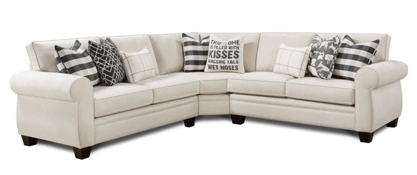 Southern Motion Popstitch Shell White Fabric Sectional STHN-117011711175-SECT