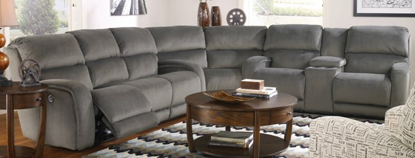 Southern Motion Fandango Grey Power Reclining Sectional STHN-884-31P-83-28P-24814