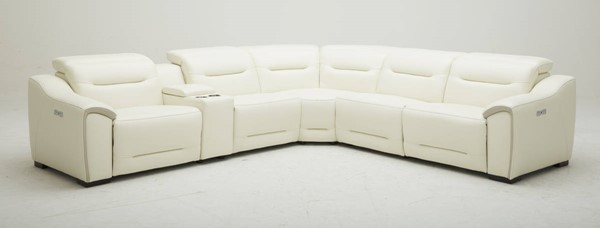 Southern Motion Grand Finale White Power Headrest Reclining Sectional STHN-486-05P-49-91-84-90P-06P-977-15