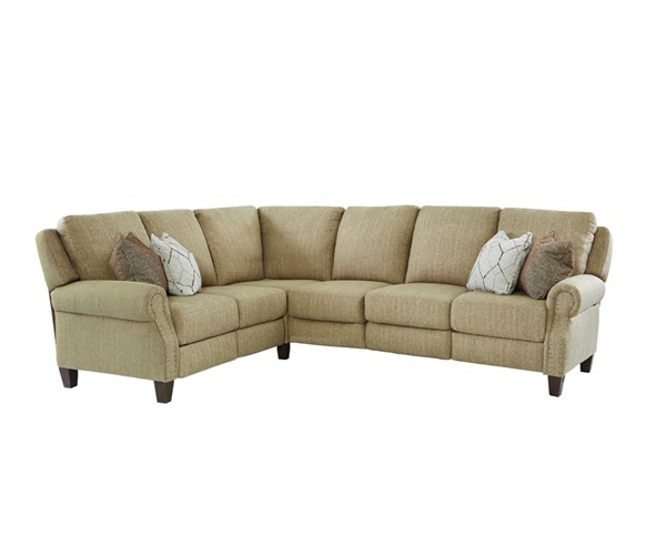 Southern Motion Key Largo Taupe Power Nailhead Reclining Sectional STHN-KEYLARGOPWRRECSECNLHD