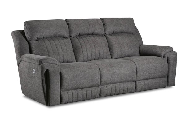 Southern Motion Silver Screen Grey Double Reclining Sofa with Power Headrest STHN-743-61P-293-09