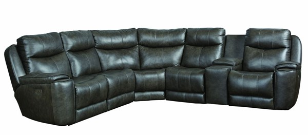 Southern Motion Showstopper Grey Power Headrest Reclining Sectional STHN-73605P8084924506P97014