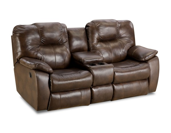 Southern Motion Avalon Brown Rustico Double Reclining Loveseat STHN-83828-90621