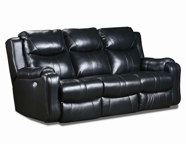Southern Motion Marvel Black Double Reclining Sofa STHN-881-61P-905-13
