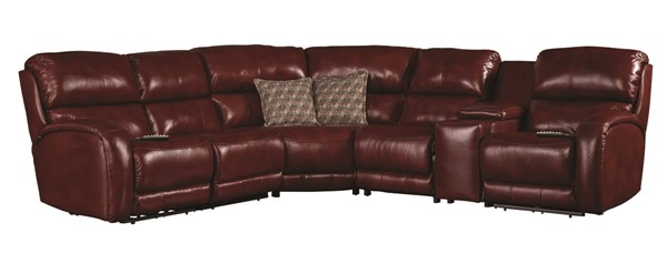 Southern Motion Fandango Red Socozi Massage Power Reclining Sectional STHN-FANDANGO-PWRREC-SECSF