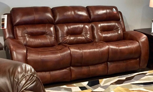 Southern Motion Showcase Brown Rustico Power Headrest Double Reclining Sofa STHN-316-61P-906-28