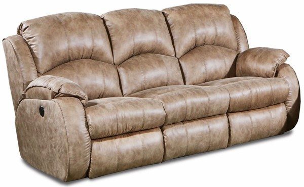 Southern Motion Cagney Brown Power Headrest Double Reclining Sofa STHN-705-61P-173-16