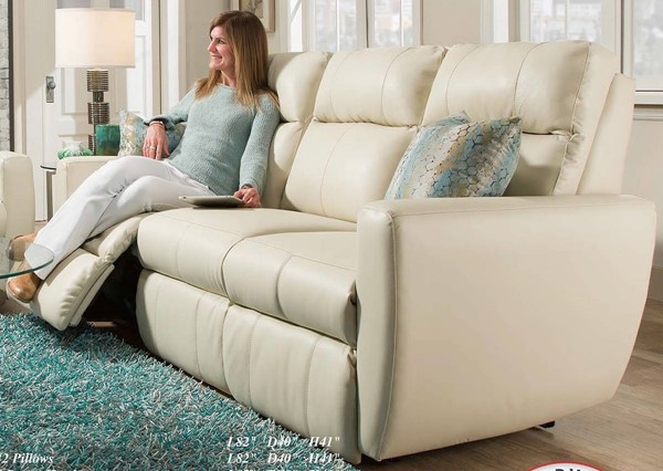 Southern Motion Knock Out Cream Double Reclining Sofa STHN-86531-95615
