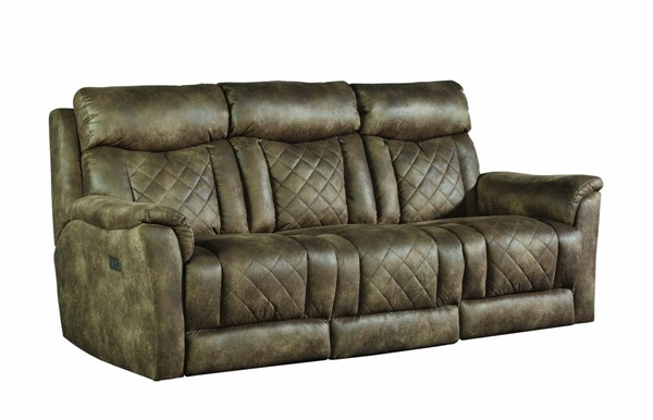 Southern Motion Showstopper Brown Power Reclining Sofa STHN-776-31P-133-21