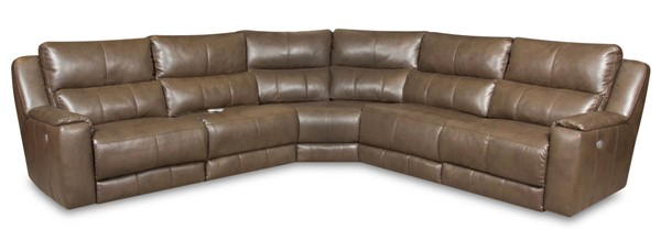 Southern Motion Dazzle Brown Scotch Power Reclining Sectional Sofa with Headrest STHN-883-05P-80-84-90P-06P-920-17
