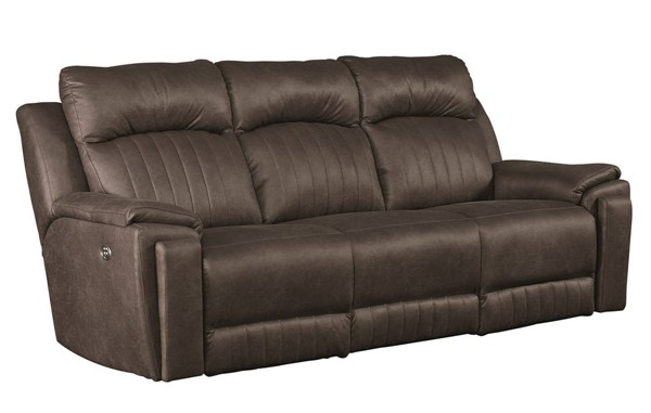 Southern Motion Silver Screen Grey Double Reclining Sofa with Power Headrests STHN-743-61P-167-14