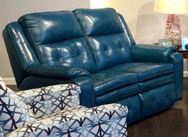 Southern Motion Inspire Green Double Reclining Loveseat STHN-850-21-90631