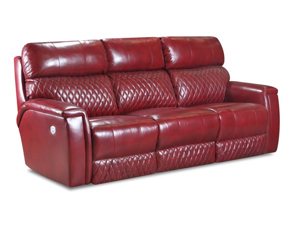 Southern Motion High Rise Red Power Headrests Reclining Sofa STHN-671-61P-906-42