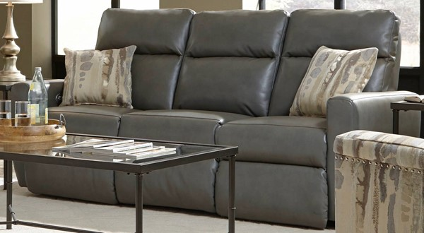 Southern Motion Knock Out Grey Power Double Reclining Sofa STHN-865-31P-906-14